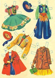 THE RANCH FAMILY Paper Dolls circa 1957 #2584 Merrill Publishing