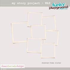 Frame cluster (7 photos - one week!) freebie