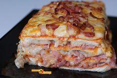Pastel de pizza con pan de molde | La Cocina de Enloqui