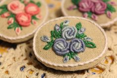 embroidery  I love roses~