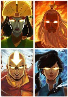 Avatars: Kyoshi, Roku, Aang & Korra - Avatar el Ultimo Maestro Aire/la Leyenda de Korra