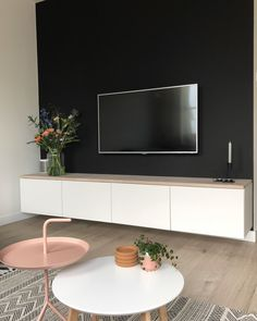Living Room Tv Unit, Home Living Room, Living Room Decor, Apartment Living, Home Room Design, Living Room Designs, Studio Living, Apartment Interior Design, Apartment Layout
