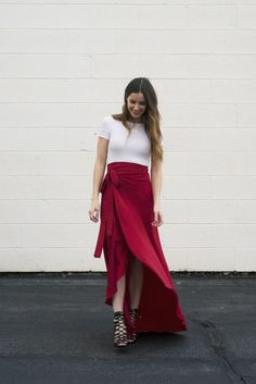 DIY: maxi wrap skirt