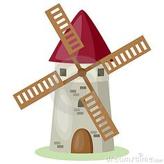 Illustration about Cartoon windmill isolated on white background. Eps file available. Illustration of landmark, vector, country - 20474876 Art Drawings For Kids, Cute Drawings, Art For Kids, Windmill Art, Cartoon Butterfly, Art Basics, Plate Design, Le Moulin, Hand Embroidery Designs