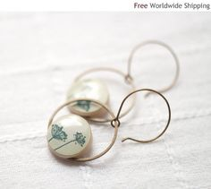 Natural History dangle earrings - Jewelry for her  - Free shipping Worldwide (E023) on Etsy, $26.00