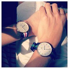Daniel Wellington love.  www.danielwellington.com  #fashion #watch #preppy #classy #love #couple