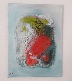 Strukturarbeit Acrylbild auf Leinwand von abstractartmoewchen