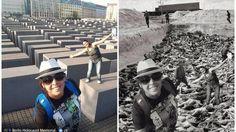 Израильский сатирик создал проект, в котором совместил селфи туристов у берлинского мемориала памяти жертв Холокоста с документальными снимками.   По его словам, он хотел продемонстрировать неуместность использования мемориала в качестве арт-объекта.