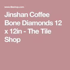 Jinshan Coffee Bone Diamonds 12 x 12in - The Tile Shop