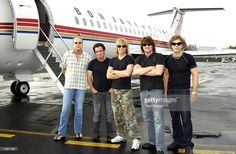 Guest bassist Hugh McDonald and Bon Jovi's Tico Torres (2nd from left), Jon Bon Jovi, Richie Sambora and David Bryan