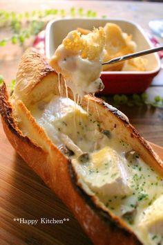 トースターでできる☆パーティーに*簡単美味しい*バゲットカマンベールチーズフォンデュ(オススメです)