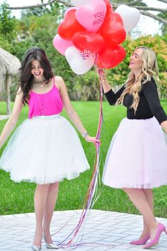 Twirling around in tulle skirts