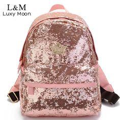 2017 Glitter Backpack Women Sequin Backpacks For Teenage Girls Rucksack New Fashion Brand Gold Black School Bag mochilas Unique Backpacks, Cute Backpacks, Girl Backpacks, Canvas Backpacks, School Backpacks, Colorful Backpacks, Military Backpacks, Cheap Backpacks, Sequin Backpack