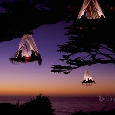This is a camping hammock. It's so totally awesome wish I nee where it is.