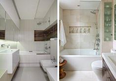 Mała łazienka - aranżacja z białymi płytkami