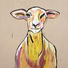 Ewe by Adam Cullen Australian Artists, Arty, Illustration, Art Drawings, Drawings, Australian Art, Moose Art, Painting, Art