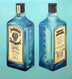 """Bombay Sapphire"" (2014) oil on canvas (110x120cm) by Tiina Lilja"
