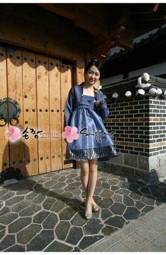 Can be found here: http://www.sonjjang-hanbok.com/korean-prom-dresses/2013-short-dresses/dove-wrap-style.html