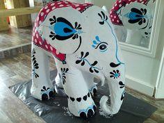 paper mache animals | large cheerily painted paper mache animals