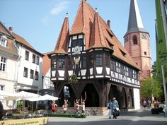 City / Town Hall in Michelstadt, Odenwald, Hesse, Germany - Rathaus in Michelstadt im Odenwald/Hessen