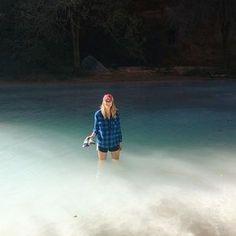 still can't believe this water was real  #grandcanyon #havasupai #havasufalls #supai #mooneyfalls #waterfall #arizona