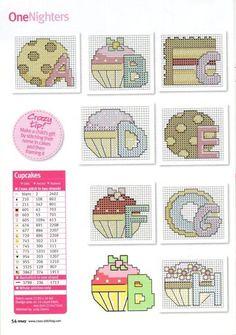 cupcake alphabet 1