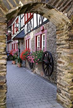 Trend Germany flowers and little streets