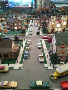 Roadside America in Pennsylvania. Biggest model train exhibition in one room I've ever seen!