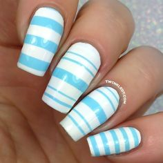 Enjoy FREE worldwide shipping on nail vinyls! Twinkled T carries the largest selection of nail vinyls in the world. All Twinkled T Nail Vinyls are handmade in Los Angeles, California with the highest quality vinyl and care! Nail Art Stripes, Striped Nails, Star Nails, Us Nails, Dope Nails, Gel Designs, Nail Art Designs, Striped Nail Designs, Heart Stencil