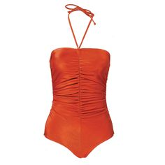 Vintage 80s Rust Shirred Swimsuit from The Way We Wore