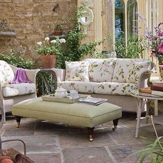 Floral furniture upholstery