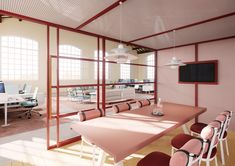 kettal presents modular 'office pavilions' for open-plan workspaces Corporate Interior Design, Corporate Interiors, Office Interiors, Ikea Living Room Furniture, Office Furniture, Innovative Office, Patio Furniture Makeover, Movable Walls, Startup Office