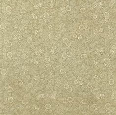 Lovely vintage endpaper with a tan floral pattern.