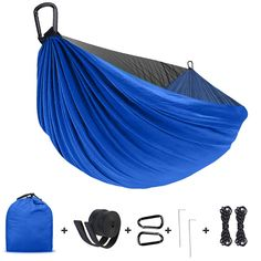 Sturdy /& Lightweight for Outdoor Backpacking Camping Trip Hiking//Indoor Garden Yard UNIONBAIB Camping Hammock with Net