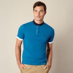 Fred Perry Blue block collar pique polo shirt