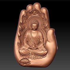 buddha with background of hand Buddha Life, Buddha Art, Sai Baba Wallpapers, Mughal Paintings, Buddha Temple, Buddha Painting, God Pictures, Indian Gods, 3d Printing
