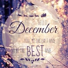 Hello December! You are the best time of the year. Please be good to me. ❤️