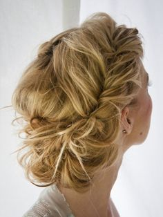dirty hair updo
