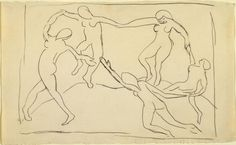 Henri Matisse. Study after Dance (I). (c. 1909) pencil on paper, 8 5/7 x 13 7/8""