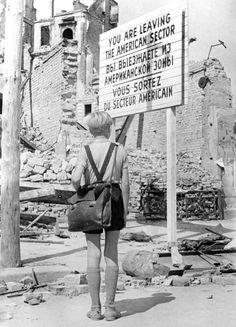 Germania anno zero di Roberto Rossellini, Italia, 1948. Edmund Moeschke (Edmund) Coll. La Cinémathèque de Toulouse