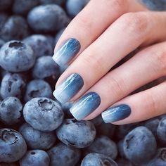 Blueberry gradient ombre nails by Anna Gorelova ♥ #livelovepolish
