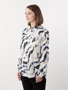 Whyred AW16 Karolina Print Cut Zebra