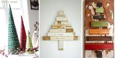 love the wooden Christmas Tree in the center!