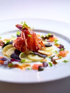 Boston Lobster with Black Truffle Salad and Ratte Potatoes