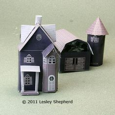 Printable miniature buildings