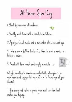 The key to a perfect DIY Spa Day is preparation, so here's how I am prepared for a relaxing evening Diy Spa Day, Spa Day At Home, Beauty Care, Diy Beauty, Beauty Hacks, Beauty Skin, Homemade Beauty, Beauty Guide, Beauty Secrets