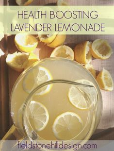 Health Boosting Lavender Lemonade - for vitamin C, detox, d-limonene boost, and even an allergy aid. And, yum!! Bring on summer wellness!!