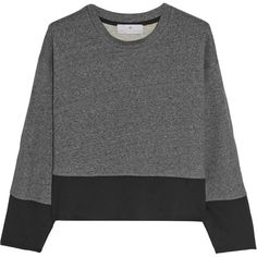 Adidas by Stella McCartney Cropped cotton-jersey sweatshirt ($30) ❤ liked on Polyvore featuring tops, hoodies, sweatshirts, sweaters, jumpers, cropped sweatshirt, adidas, cotton jersey, adidas sweatshirt and loose fit tops