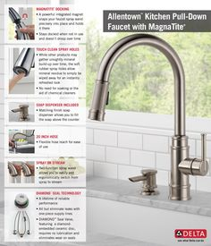 Delta Allentown Single Handle Pull Down Sprayer Kitchen Faucet With Soap In  SpotShield Stainless