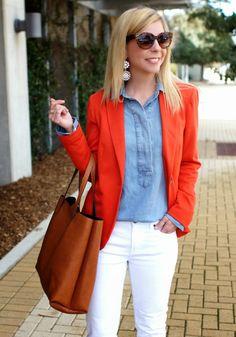 White, Orange & Denim | Because Shanna Said So